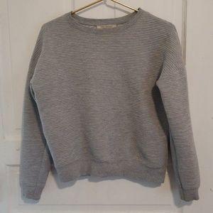 Textured Grey Sweater